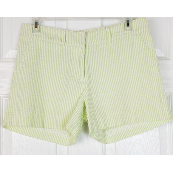 💗Molly b  stripped green white shorts size 6